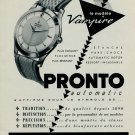 1953 Pronto Watch Company Pronto Vampire Advert 1953 Swiss Ad Suisse Advert Horology