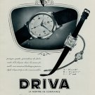 1953 Driva Watch Company Geneva Switzerland Vintage 1953 Swiss Ad Suisse Advert Horlogerie Horology