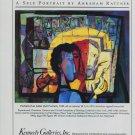 1991 Abraham Rattner Portrait of an Artist Self Portrait 1991 Art Ad Advert Advertisement