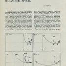 1953 l'Influence de la Forme des Bouts de Pivots 1953 Swiss Magazine Article Horlogerie Horology