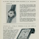 1953 Alpina Watch Company Angelus Watch Co. Nouveaux Modeles Vintage 1953 Swiss Magazine Article