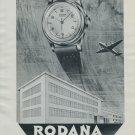 1951 Rodana Watch Company Grenchen Switzerland 1951 Swiss Ad Suisse Advert Horlogerie Horology