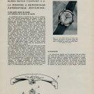 1953 Buren Watch Company Nouveaux Calibres Vintage 1953 Swiss Magazine Article Horlogerie Horology