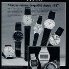 Titus Watch Company Switzerland Solvil et Titus 1980 Swiss Ad Suisse Advert Horology Horlogerie