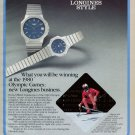 1980 Olympic Games Longines Watch Company Olympics 1980 Swiss Ad Suisse Advert Horlogerie Horology