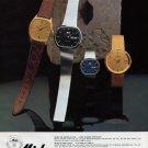 Mido Watch Company Switzerland Ocean Star Advert 1980 Swiss Ad Suisse Advert Horlogerie Horology