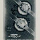 1955 Aureole Watch Company Switzerland M Choffat & Co. 1955 Swiss Ad Suisse Advert