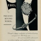 1955 Ebel Watch Company Switzerland Vintage 1955 Swiss Ad Advert Suisse Suiza Schweiz