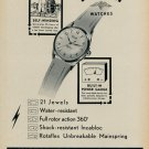 1955 Rotary Watch Company La Chaux De Fonds Switzerland 1955 Swiss Ad Suisse Advert