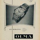 1955 Olma Watch Company Switzerland Vintage 1955 Swiss Ad Suisse Advert Numa Jeannin