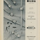 1955 Mildia Watch Company La Chaux-de-Fonds Switzerland Vintage 1955 Swiss Ad Suisse Advert