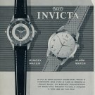 1955 Invicta Watch Co. Toutes Dernieres Creations Ad 1955 Swiss Ad Suisse Advert Switzerland