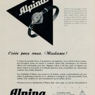 1953 Alpina Watch Company Alpina Union Horlogere Switzerland Vintage 1953 Swiss Ad Suisse Advert