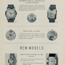1955 Gruen Watch Company Ernest Borel Paul Buhre Zodiac New Models 1955 Swiss Magazine Article