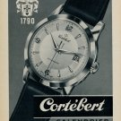1955 Cortebert Watch Company Switzerland Vintage 1955 Swiss Ad Suisse Advert