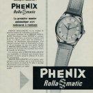 1954 Phenix Watch Company Rollamatic Advert Vintage 1954 Swiss Ad Suisse Advert Horlogerie Horology