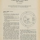 1955 Record Watch Company No. 174 and No. 75 C 1955 Swiss Magazine Article Horlogerie Horology