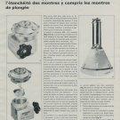 1969 Bergeon & Cie Company Switzerland 1969 Swiss Magazine Article Horlogerie