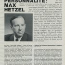 1969 Max Hetzel Bulova Vintage 1969 Swiss Magazine Article Suisse Horlogerie Horology
