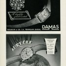 1949 Damas Watch Company Beguelin & Co. Aureole Watch Company 1949 Swiss Ad Suisse Advert