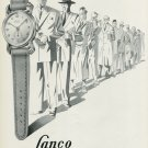1949 Lanco Watch Company Langendorf Watch Co Switzerland Vintage 1949 Swiss Ad Suisse Advert