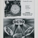 1949 Leonidas Watch Company Octo Watch Company Switzerland Vintage 1949 Swiss Ad Suisse Advert