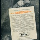 1949 Rolex Watch Company Switzerland Montres Rolex SA Advert 1949 Swiss Ad Suisse Advert