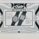 1949 Hoverta Watch Company H. Hofer Ltd. Grenchen Switzerland Vintage 1949 Swiss Ad Suisse Advert