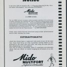 1949 Mido Watch Company G Schaeren Bienne Switzerland Vintage 1949 Swiss Ad Suisse Advert Horology