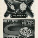 1946 Belvil Watch Company Pontifa Watch Co. M.T. Stauffer Jeune Vintage 1946 Swiss Ad Suisse Advert
