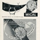 1956 Mical Watch Company Mediator Watch Company Switzerland Vintage 1956 Swiss Ad Suisse Advert