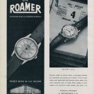 1956 Roamer Watch Company Arsa Watch Company A Reyond S.A. Switzerland 1956 Swiss Ad Suisse Advert