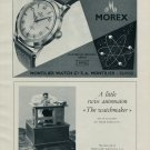 1953 Montilier Watch Company Morex Watch Co. Switzerland Vintage 1953 Swiss Ad Suisse Advert