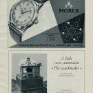 1953 Montilier Watch Company Morex Watch Co. Switzerland Vintage 1953 Swiss Ad Suisse Advert