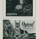 1944 Orfina Watch Company Ogival Watch Company Switzerland Vintage 1944 Swiss Ad Suisse Advert