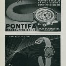 1944 Pontifa Watch Company Helvetia Watch Company Switzerland Vintage 1944 Swiss Ad Suisse Advert