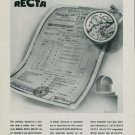 1944 Recta Watch Company Switzerland Vintage 1944 Swiss Ad Suisse Advert Horlogerie Horology