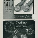 1944 Ulysse Nardin Watch Company Zodiac Watch Company Switzerland 1944 Swiss Ad Suisse Advert