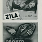 1944 Zila Watch Company Pronto Watch Company Switzerland Vintage 1944 Swiss Ad Suisse Advert