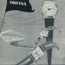 1953 Orfina Watch Company Grenchen Switzerland Vintage 1953 Swiss Ad Suisse Advert Horology