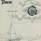 1953 Timor Watch Company Switzerland Trust Timor It's Tested Vintage 1953 Swiss Ad Suisse Advert