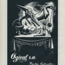 1960 Ogival S.A. Ogival Watch Company Switzerland Vintage 1960 Swiss Ad Suisse Advert