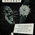 1951 Vulcain Watch Company La Chaux-de-Fonds Switzerland Vintage 1951 Swiss Ad Suisse Advert