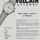 1951 Vulcain Watch Company La Chaux-de-Fonds Switzerland Vintage 1951 Swiss Ad Suisse Advert