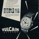 1954 Vulcain Watch Company Switzerland Vintage 1954 Swiss Ad Suisse Advert Horology Horlogerie