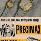1954 Precimax Watch Company Neuchatel Switzerland Vintage 1954 Swiss Ad Suisse Advert