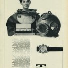 1965 Technos Watch Company Welschenrohr Switzerland 1965 Swiss Ad Suisse Advert (Diving)
