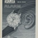 1954 Roamer Watch Company Soleure Switzerland Vintage 1954 Swiss Ad Suisse Advert Horology