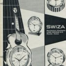1965 Swiza Clock Company Louis Schwab S.A. Moutier Vintage 1965 Swiss Ad Suisse Advert