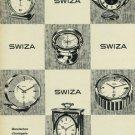 1965 Swiza Clock Company Switzerland Vintage 1965 Swiss Ad Suisse Advert Horlogerie